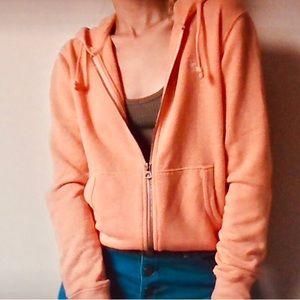 Ralph Lauren Orange Zip Up Hoodie